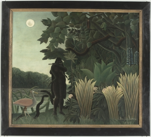 """The Snake Charmer"" 1907 by Henri Rousseau. Most valuable in the collection."