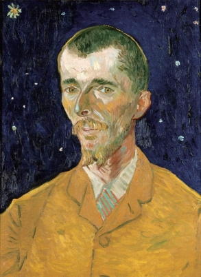 """Portrait of Eugène Boch"" 1888 by Vincent van Gogh. I believe this was the only Van Gogh in the collection."