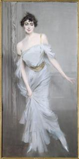 """Madame Charles Max"" 1896 by Giovanni Boldini. Portraits are always my favorite part of any museum. These are three of the most gorgeous portraits I've ever seen."