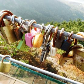 Love locks. Naturally.