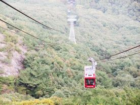 Cable car. Our ride's here.