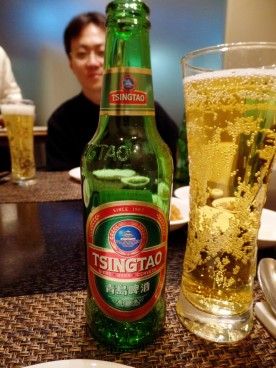 Chinese beer for the occasion.
