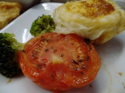 Quiche Lorraine and roasted tomato