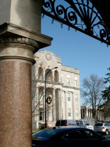 The courthouse in old town, Farmington. Does it remind you of Back to the Future like it does me??