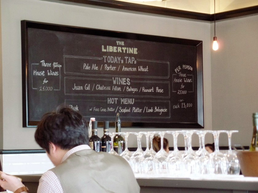 The Libertine Itaewon Seoul Specials