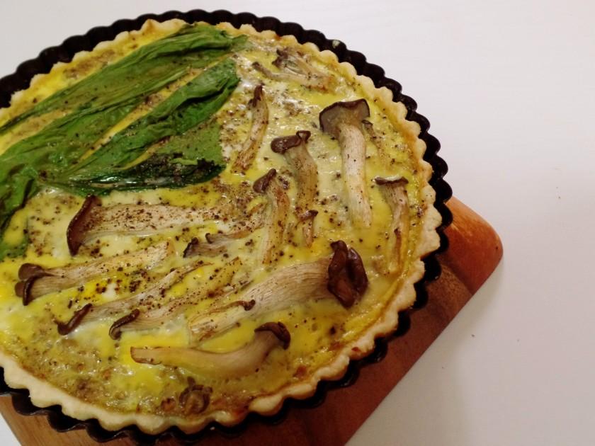 Mushroom and Egg Tart c