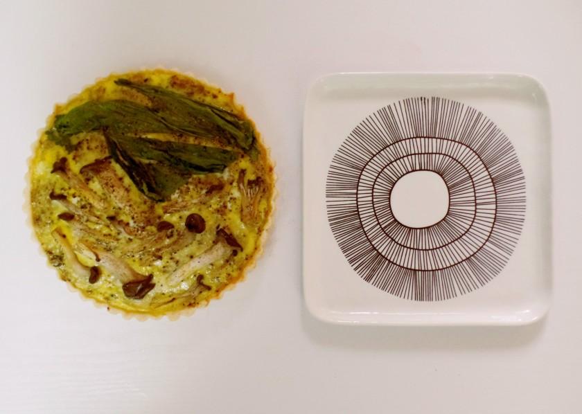 Mushroom and Egg Tart d