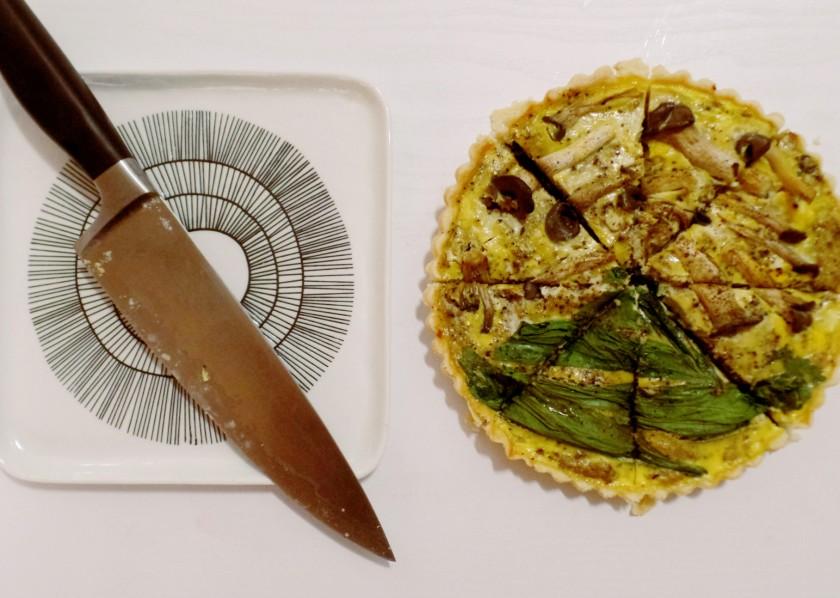 Mushroom and Egg Tart e