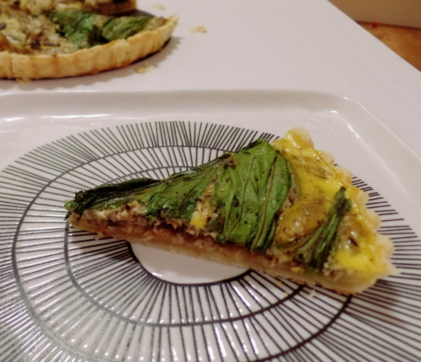 Mushroom and Egg Tart f
