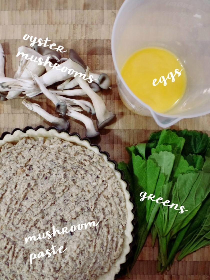 Mushroom and Egg Tart