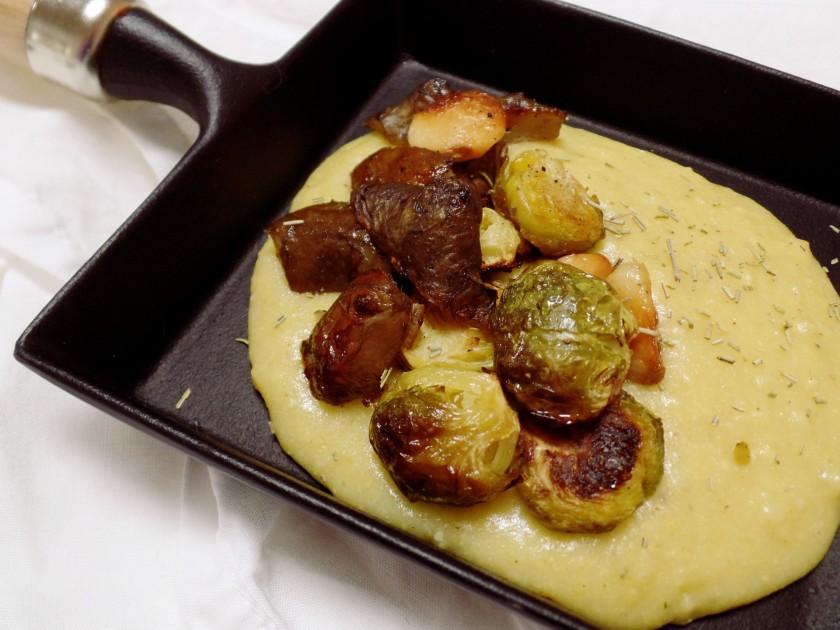 Polenta Sunchoke Brussel Sprouts 2