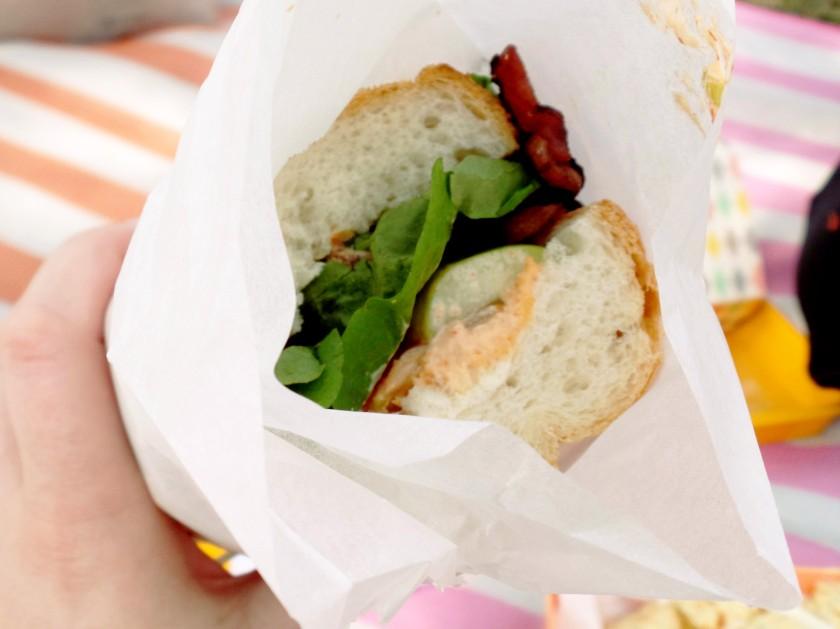 duck and kimchi mayo sandwich