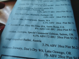 Horse Brass Pub portland beer menu