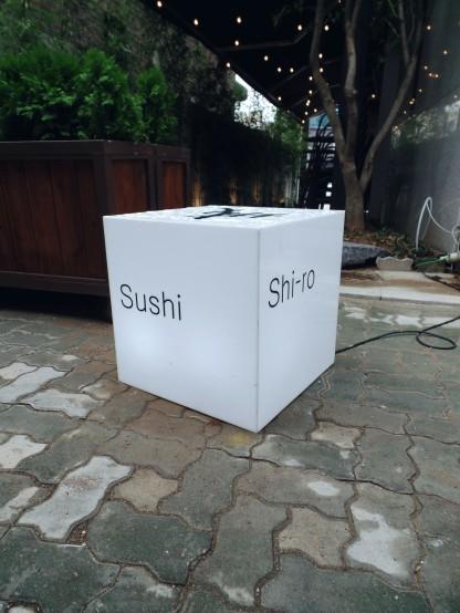 Shiro Sushi Hongdae Sign