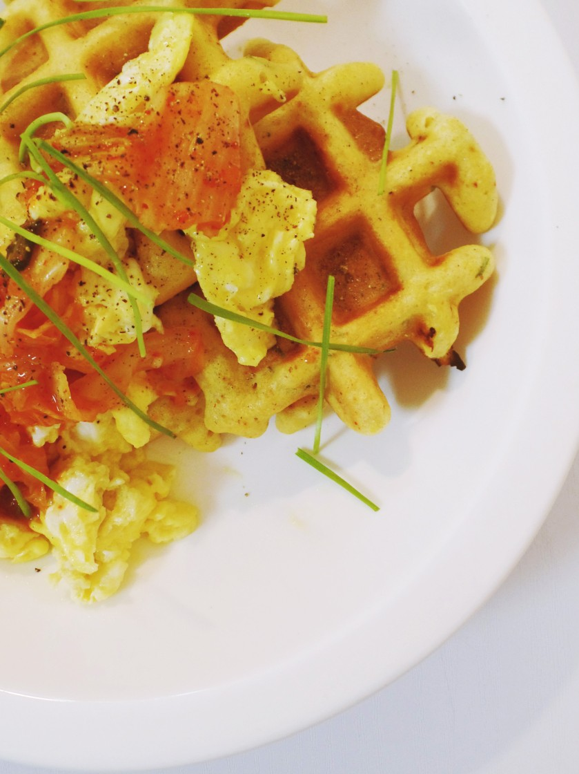 cornbread waffles 006