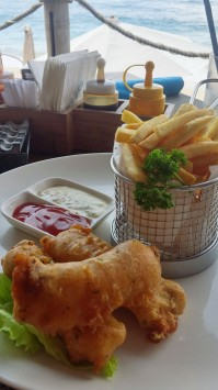 Fish and Chips Finns Beach Club
