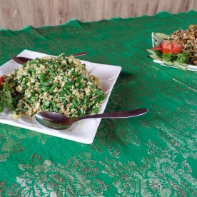 Paon Cooking Class Ubud Coconut and Snake Bean Salad