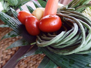 Paon Cooking Class Ubud Ingredients Snake Beans