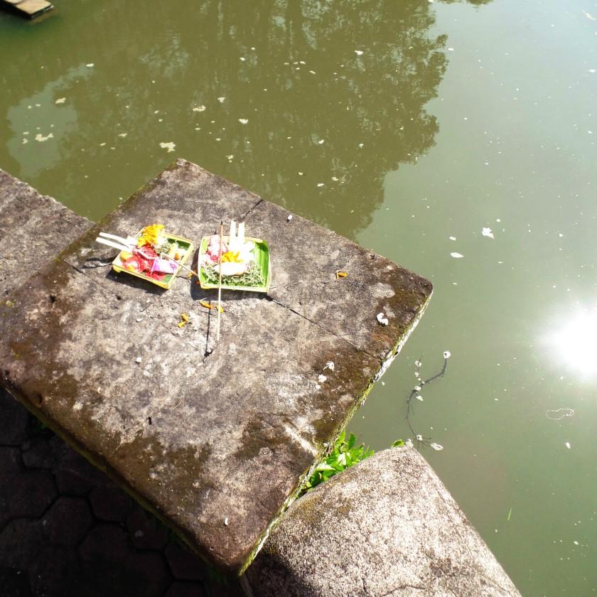 Taman Ayun Temple Offering